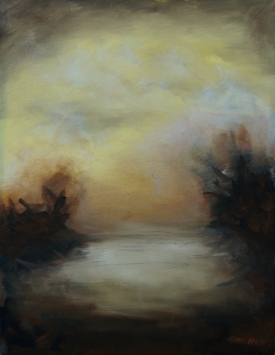 Luminous- Ocher Rise I, 18x14-1