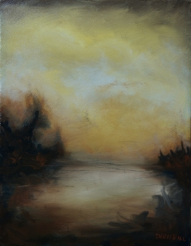 Luminous- Ocher Rise II, 18x14-1